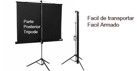 Telon con tripode para proyector video beam base tripode for Pantalla para proyector