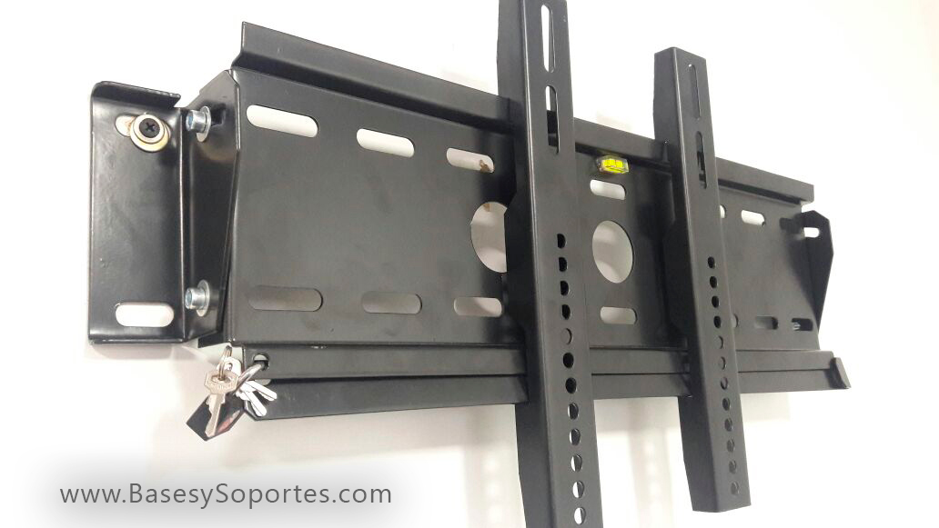 Soporte de pared Inclinable Antirrobo para TV con candado de Seguridad