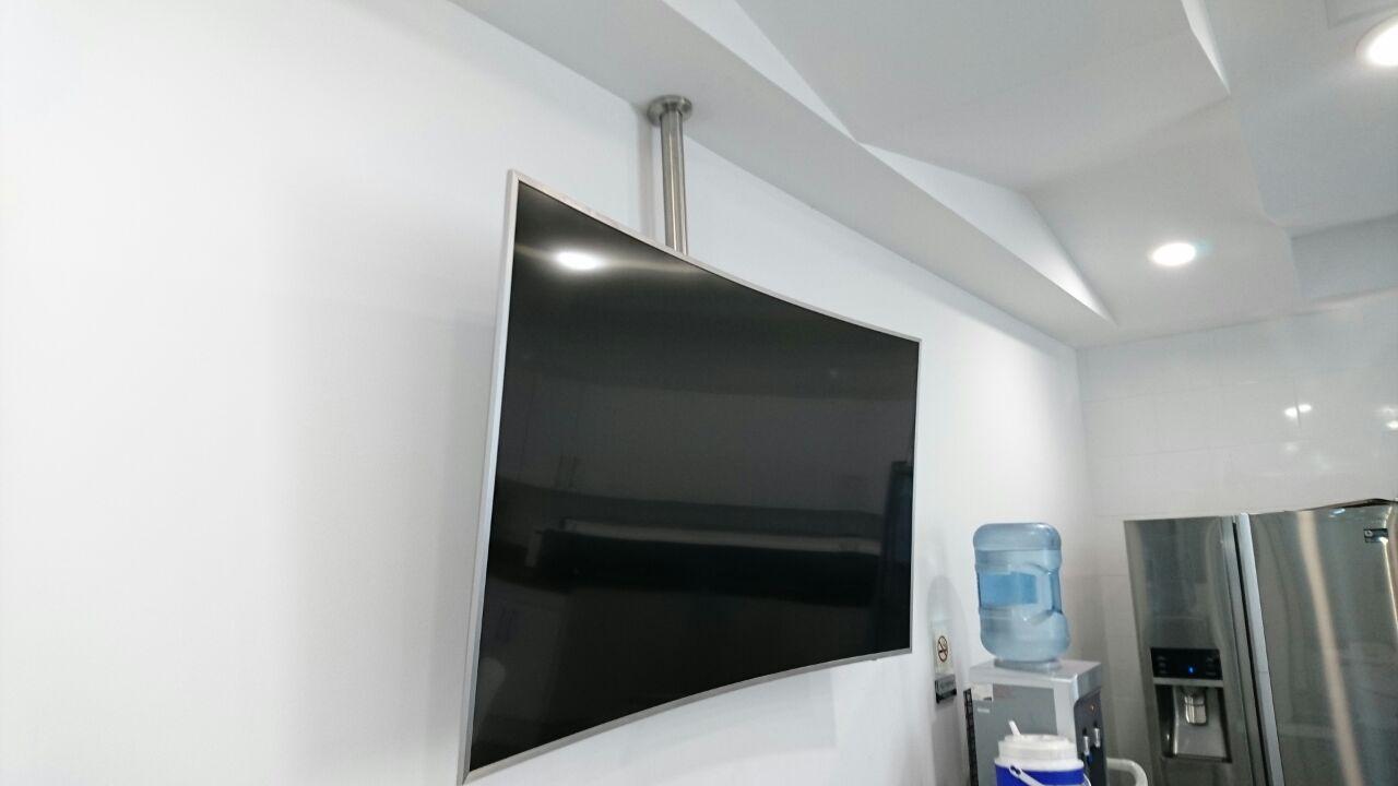 Soportes para colgar tv soporte tv fijo tele lcd a - Tv en la pared ...