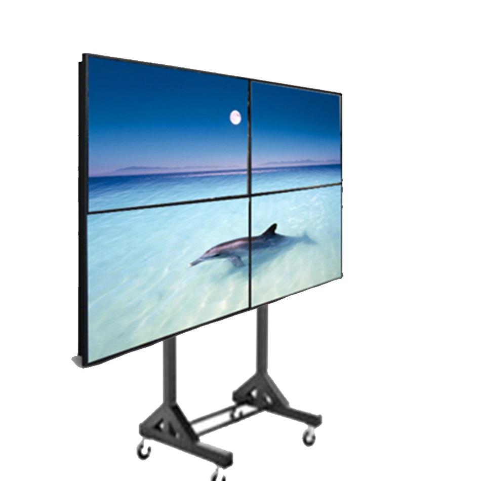 Soporte pedestal ruedas 4 televisores video wall bases y soportes ltda - Soporte con ruedas para tv ...
