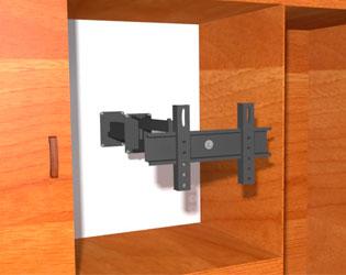 Instalando televisor dentro armario closet bliblioteca for Closet con espacio para tv