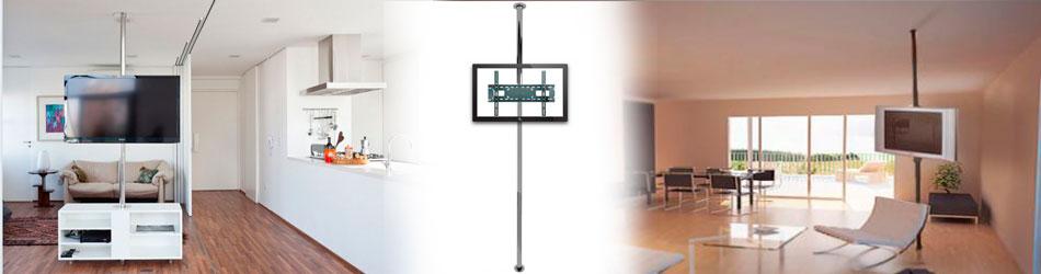 Soporte de televisor tubo columna piso a techo bases y - Soportes de tv para techo ...