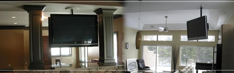 Soporte de techo para colgar televisores led lcd plasma for Soporte para tele