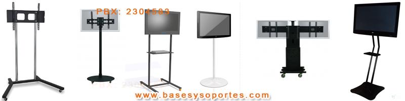 Soportes de piso stand pedestales para led lcd plasma for Mueble soporte tv