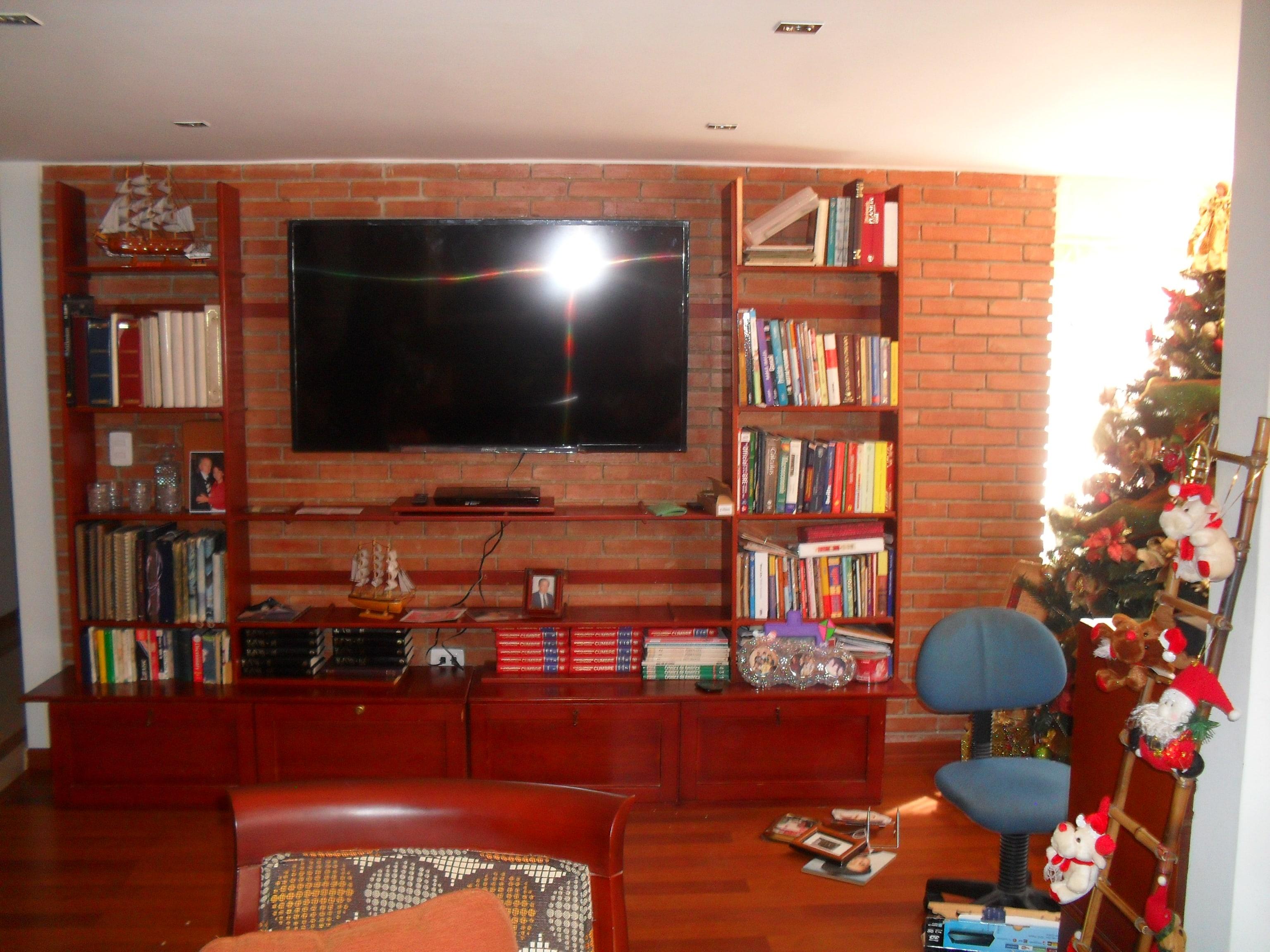 Empotrar Tv Led Lcd En Closet Armario Mueble Y Biblioteca