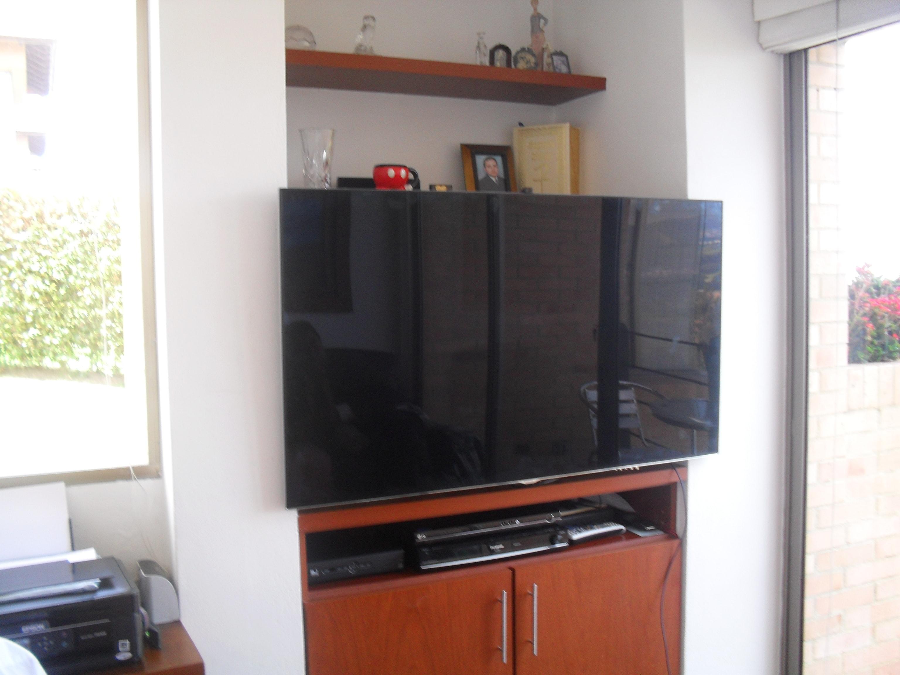 Empotrar Tv Led Lcd En Closet Armario Mueble Y Biblioteca Con  # Muebles Fasil De Hacer