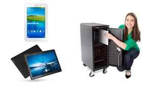 soporte mueble para almacenar transportar tablets ipads