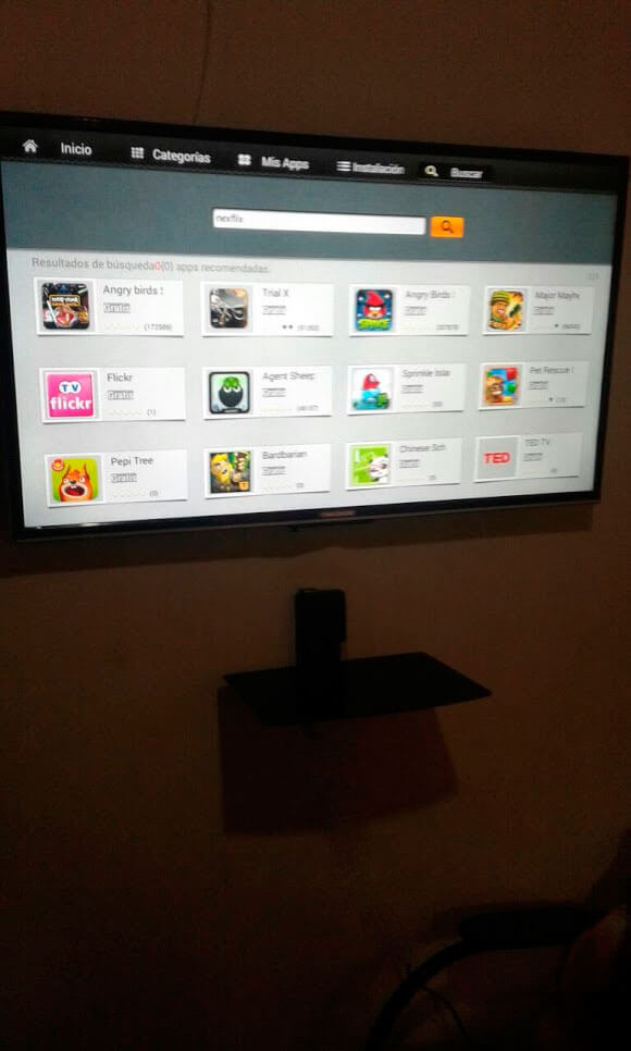 Repisa de pared para televisores led, oled, smart tv
